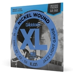 D'Addario EJ21 Nickel Wound Electric Guitar Strings, Jazz Light, 12-52