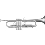 B&S MBX 3 Heritage Silver Trumpet
