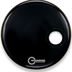 "Aquarian 22"" Regulator Resonant Head Black"
