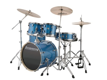 Ludwig Element 22 Blue Drum Set