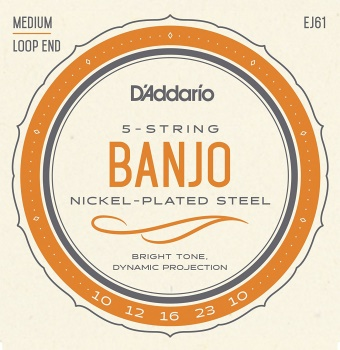 Strings Banjo D'Addario Med Nickle