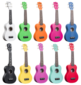 Ukulele Amahi Penguin Soprano Painted - Various Colors